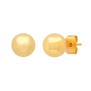 Simple 8 MM Ball Post Earrings
