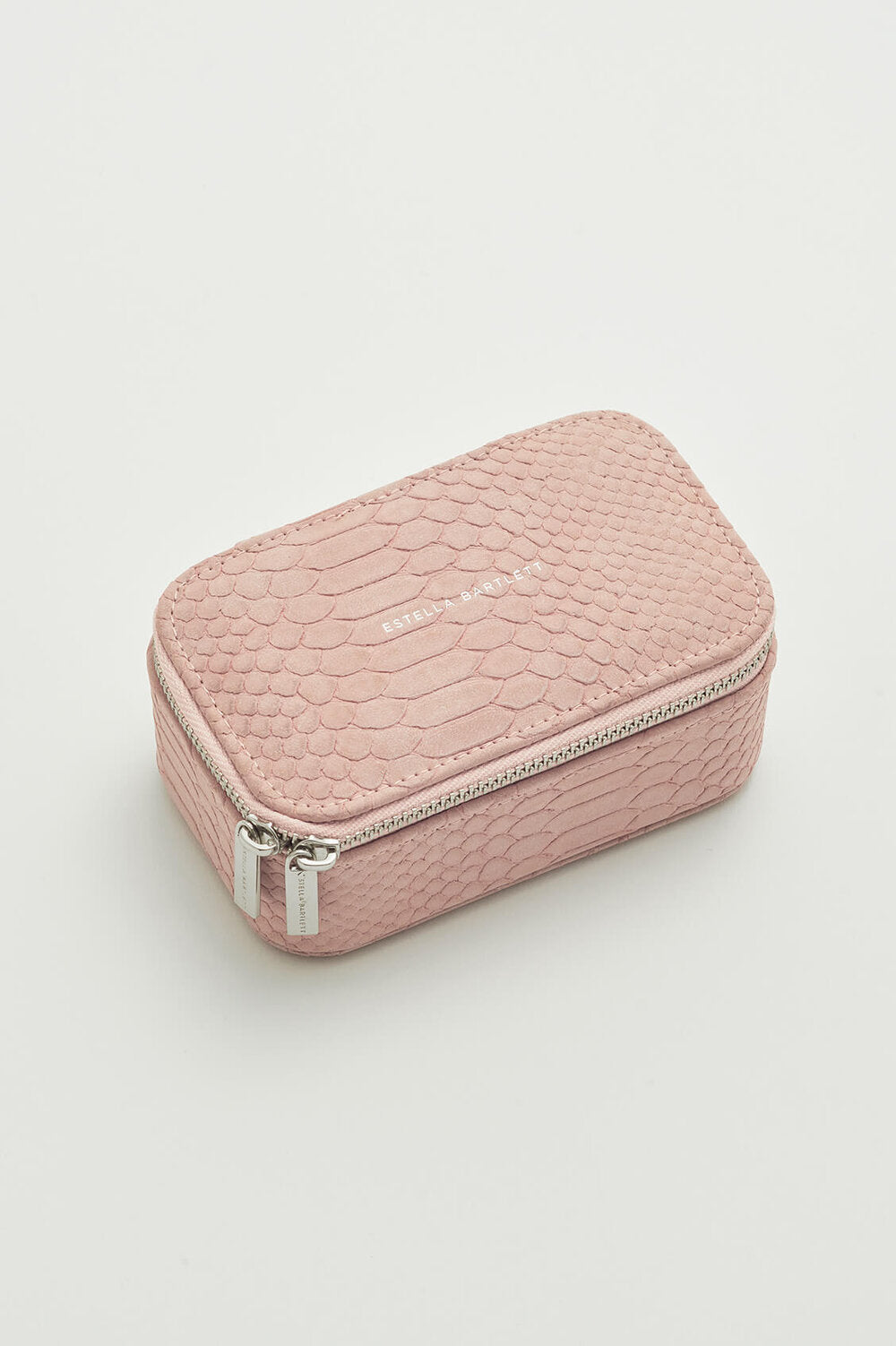 Pink Snake Print Travel Jewelry Box