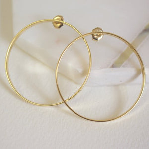 Extra Large Front Facing Hoop Earring