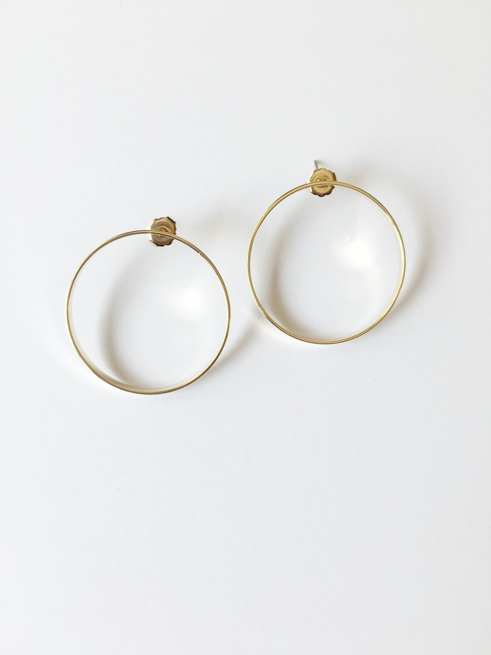 Large Front Facing Hoop Earring