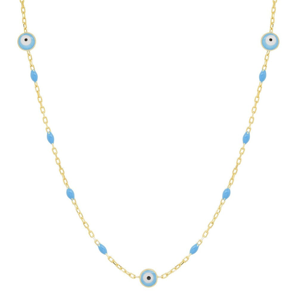 Tai Enamel Beaded Evil Eye Necklace
