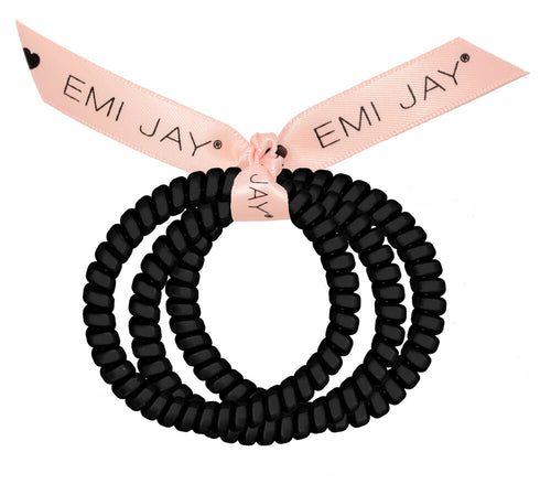 3-Pack Twist Hair Ties In Black