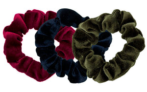 Velvet Scrunchies 3-Pack