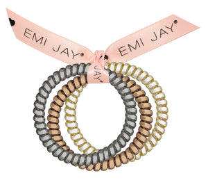 3-Pack Twist Hair Ties In Creme Brulee