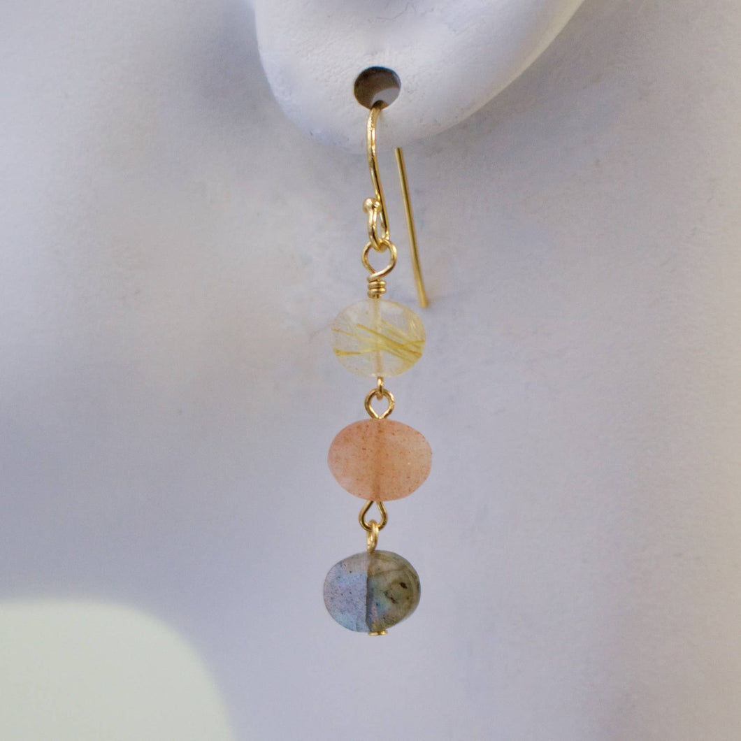 Mini Semi-Precious Stack Earring