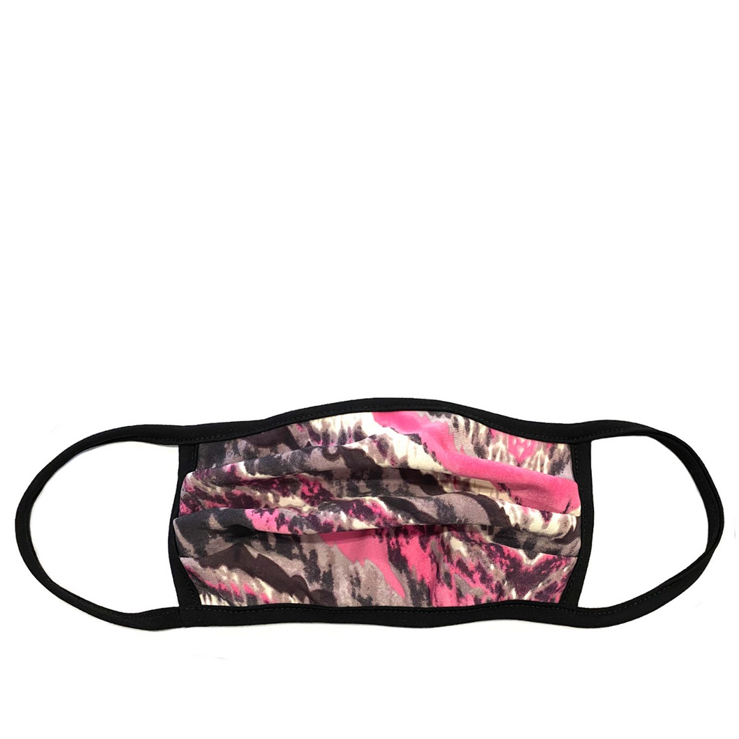 Pink Abstract Face Mask
