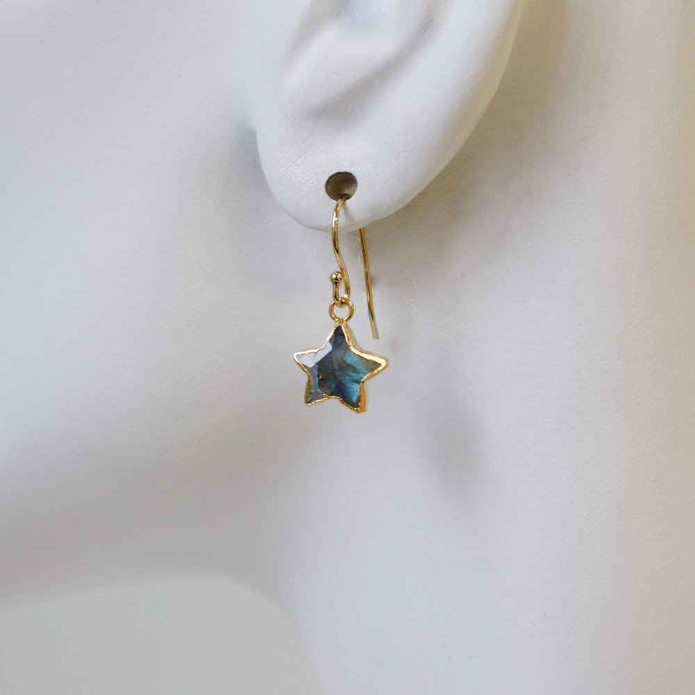 Semi-Precious Mini Star Earring