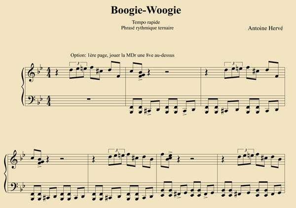 Boogie Woogie Piano Lesson By Antoine Herve Antoinehervecom