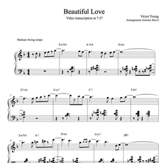 BEAUTIFUL LOVE -Piano Lesson by Antoine Herve|BEAUTIFUL LOVE - Cours de Piano par Antoine Hervé