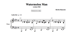WATERMELON MAN - Piano Lesson by Antoine Herve|WATERMELON MAN - Cours de Piano par Antoine Hervé