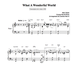 WHAT A WONDERFUL WORLD : Jazz Piano Lesson by Antoine Herve|WHAT A WONDERFUL WORLD : cours de piano jazz par Antoine Hervé