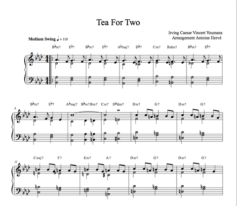 TEA FOR TWO- Jazz Piano Lesson by Antoine Herve|TEA FOR TWO - cours de piano jazz par Antoine Hervé