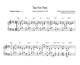 TEA FOR TWO- Piano Lesson by Antoine Herve|TEA FOR TWO - cours de piano jazz par Antoine Hervé