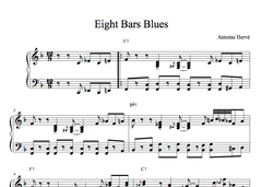 EIGHT BAR BLUES PM- Jazz Piano lesson by Antoine Herve|EIGHT BAR BLUES PM- cours de piano jazz par Antoine Hervé