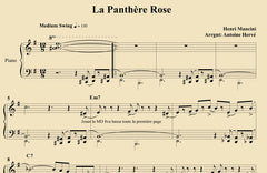 THE PINK PANTHER - Piano Lesson by Antoine Herve|LA PANTHERE ROSE - Cours de Piano par Antoine Hervé