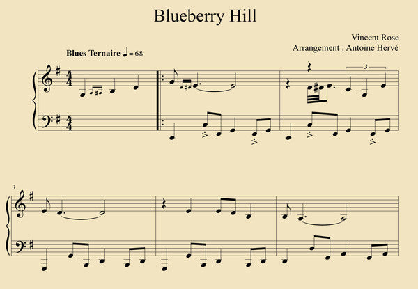 BLUEBERRY HILL - Piano Lesson by Antoine Herve   antoineherve com