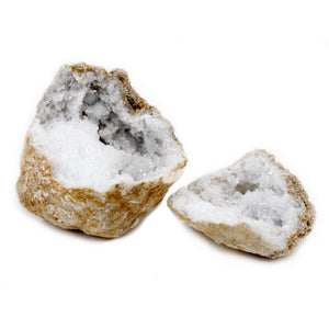 Calsite Geodes - 10-12 cm - Calcite and Quartz crystals