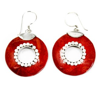 Coral Style Silver Earrings - Do-nuts