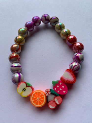 Handmade Fruit Candy Stripe Bracelet