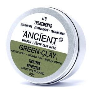 Green Clay Face Mask 80g - Detoxify, Exfoliate & Naturally cleanse Your Skin