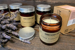 Aromatherapy Jar Candles, Natural Vegan Soy Wax & Essential Oils