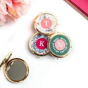 Personalized Gold Compact Mirror - WayneAnthony