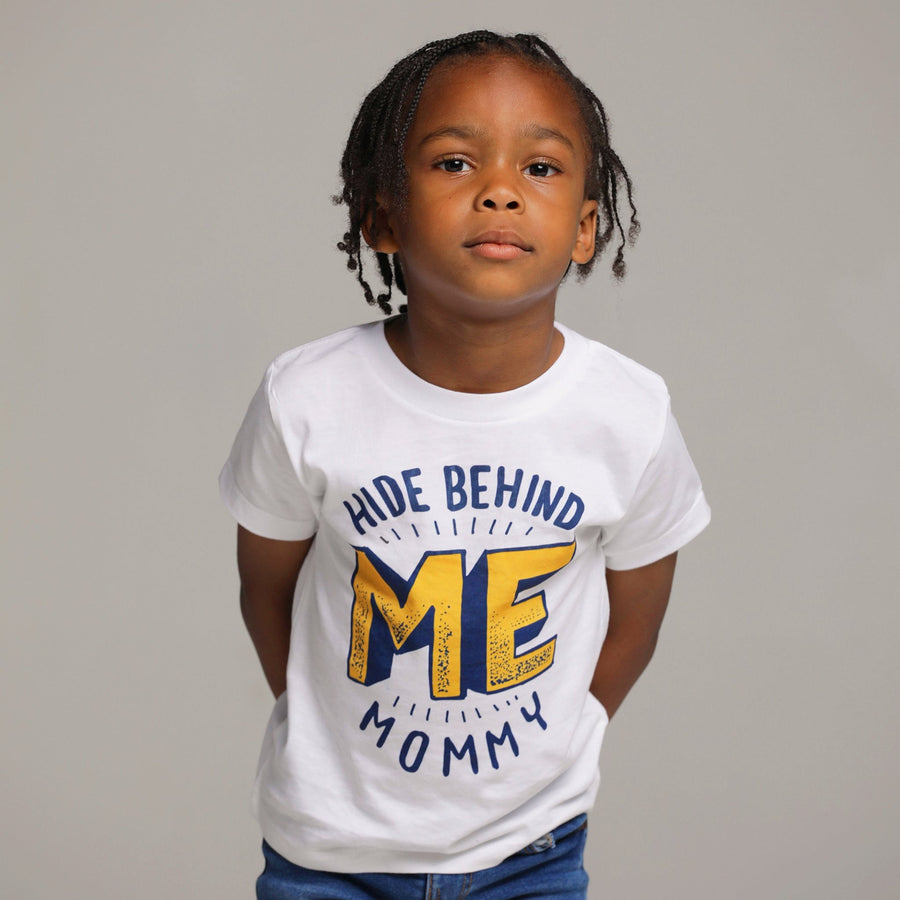 Hide Behind Me Mommy Vintage Boy Tee - WayneAnthony