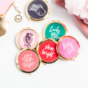 Motivational Gold Compact Mirrors - WayneAnthony