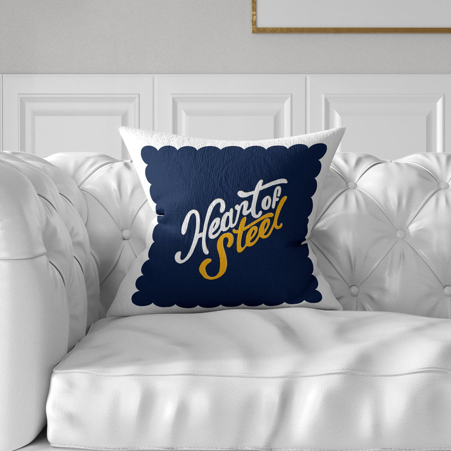 Heart Of Steel Throw Pillow - WayneAnthony