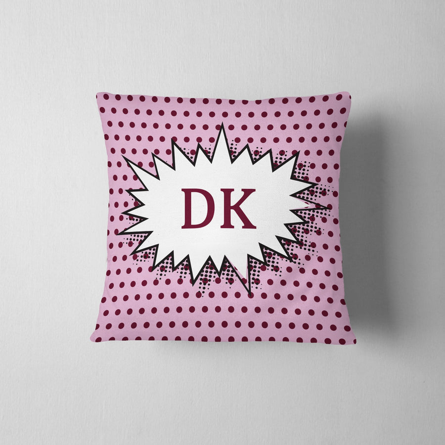 Personalized Vintage Polka Dot Throw Pillow - WayneAnthony