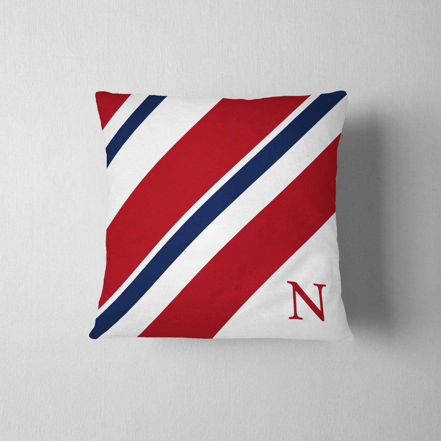 Personalized Striped Throw Pillow - WayneAnthony