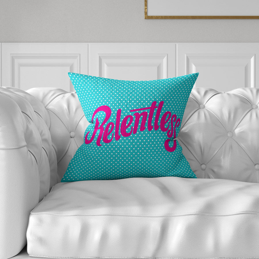 Relentless Throw Pillow - WayneAnthony