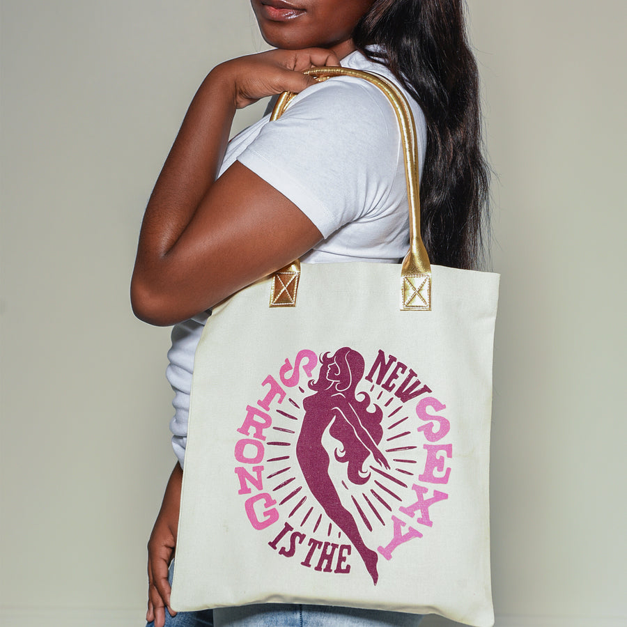 Strong is the New Sexy Canvas Tote Bag - WayneAnthony