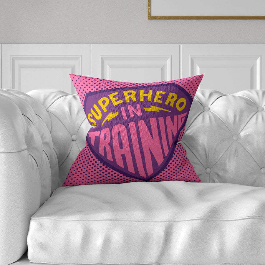 Superhero In Training Throw Pillow - WayneAnthony