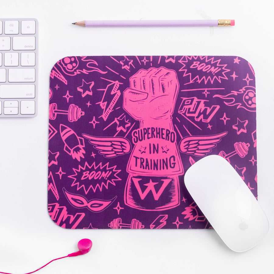 Superhero In Training Kids Mouse Pad - WayneAnthony