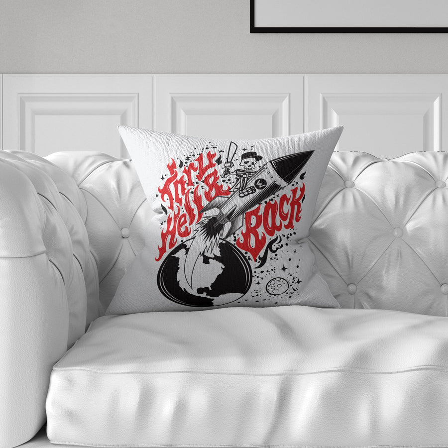 Thru Hell & Back Throw Pillow - WayneAnthony