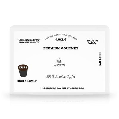 12 Pack Single Serve Coffee Capsules - Life's Diet