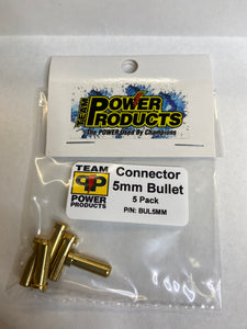Connector, 5mm Bullet - Pack of 5