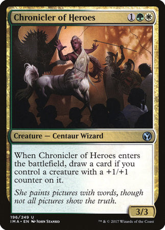 Chronicler of Heroes [Iconic Masters] | Acropolis Games MI