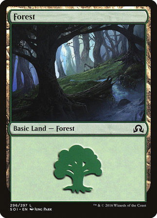 Forest (296) [Shadows over Innistrad] | Acropolis Games MI
