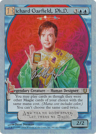Richard Garfield, Ph.D. (Alternate Foil) [Unhinged] | Acropolis Games MI