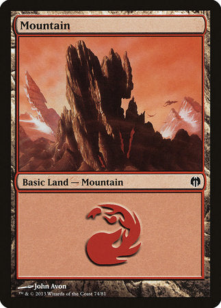 Mountain (74) [Duel Decks: Heroes vs. Monsters] | Acropolis Games MI