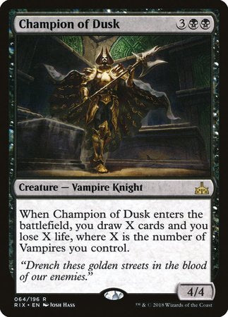 Champion of Dusk [Rivals of Ixalan] | Acropolis Games MI