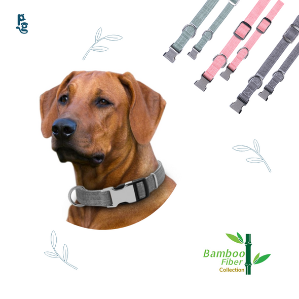 Dog Collar Bamboo Fiber Collection-Pink