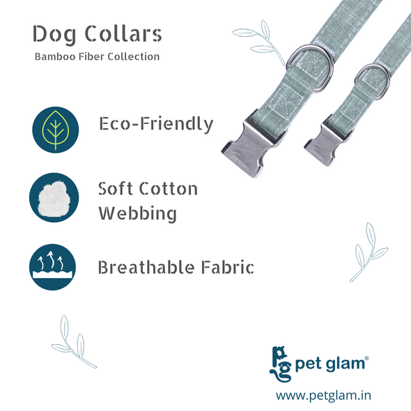 Dog Collar Bamboo Fiber Collection-Green
