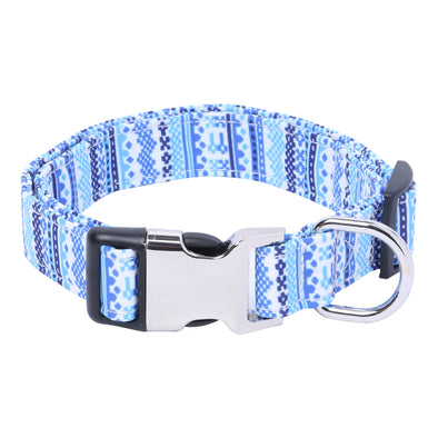 AZ COT Blue-Dog Collar for Pugs-Beagles-Shih Tzu-Labradors-French Bulldog