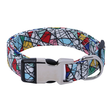 AZ COT Mosaic-Dog Collar for Pugs-Beagles-Shih Tzu-Labradors-Lhasa-Indies-Husky
