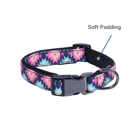 Dog Collar Az Neo-Soft Padding For Neck (Assorted Patterns/Colours)