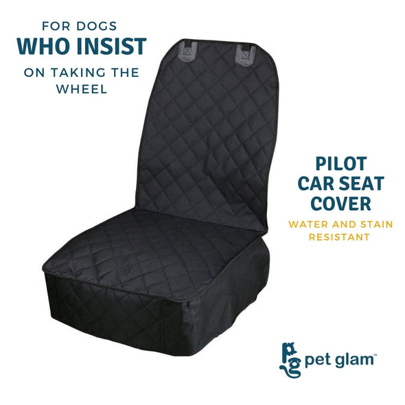 Pet Glam Car Seat Cover Front Seat - For Cats & Dog Travel-Carbon