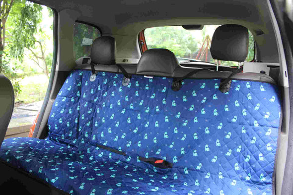 Car Seat Cover-Dino-Waterproof Scratch-Proof Nonslip-Pet & Human Travel (Back Seat)